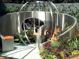 amenajare gradina moderna scaun