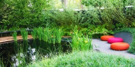 Amenajare gradina cu iaz decorativ si loc de meditare