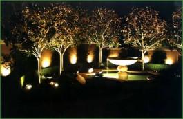 gradina noaptea sistem lumini