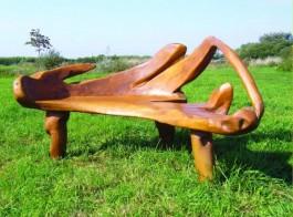 banca rustica mobilier rustic de exterior