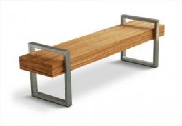 banca din lemn stil modern pentru exterior gradina