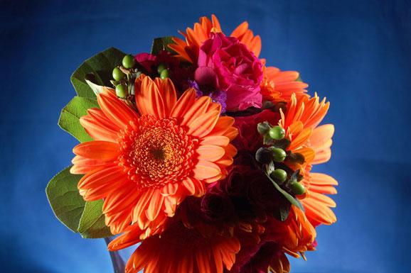buchet de mireasa din flori rustice