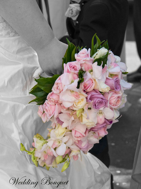 buchet deosebit din trandafiri roz